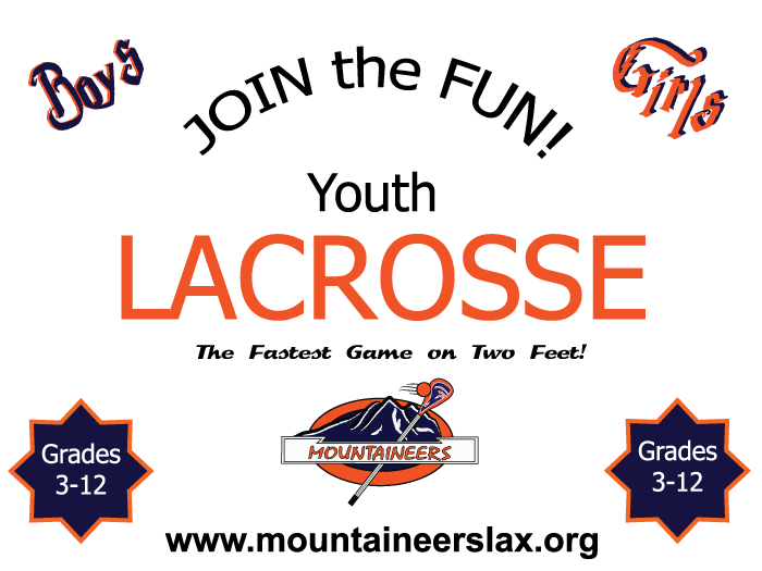 Join the Fun! Youth Lacrosse! The fastest game on two feet! Grades 3-12